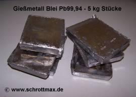 006 Blei Pb99,94 Gießmetall als 5 kg Barren - Bild vergrößern