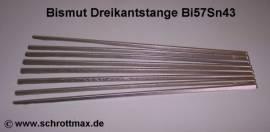 034 Bismut Zinn Bi57Sn43 Gießmetall als Dreikantstange - Bild vergrößern