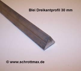 030 Blei Dreikantstange 30 - 100 mm mit Nut - Bild vergrößern