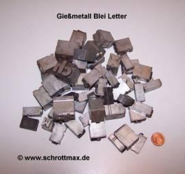 033 Hartblei Letterbuchstaben Hartmetall - Bild vergrößern