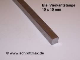 045 Blei Vierkantprofil 15 x 15 - 500 mm - Bild vergrößern