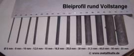 030 Bleiprofil Vollstange rund ø 30 - 100 mm - Bild vergrößern
