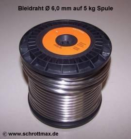 506 Bleidraht ø 6,0 mm auf 5 kg Spule - Bild vergrößern
