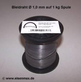 101 Bleidraht ø 1,0 mm auf 1 kg Spule - Bild vergrößern