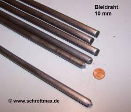 110 Bleiprofil Vollstange rund ø 10 - 500 mm - Bild vergrößern