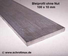 060 Bleiprofil Vierkant 100 x 10 - 100 mm - Bild vergrößern