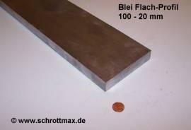 070 Bleiprofil Vierkant 100 x 20 - 100 mm - Bild vergrößern