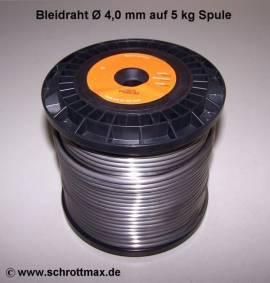 004 Bleidraht ø 4,0 mm auf 5 kg Spule - Bild vergrößern