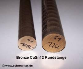 051 Bronze Vollstange Rundmaterial Durchmesser 51-100 - Bild vergrößern