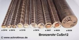 383 Bronzerohr für Bronzegleitlager ø 38/27 - 100 mm - Bild vergrößern