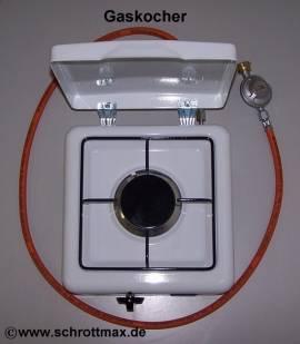 003 Gaskocher Parker einflammig weiß - Bild vergrößern