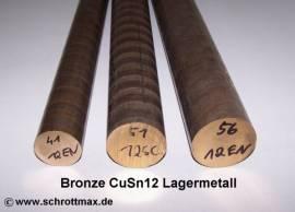 056 Bronze Vollstange Rundmaterial Durchmesser 56-100 - Bild vergrößern