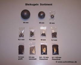 110 Bleikugeln ø 2,5 mm natur - Bild vergrößern