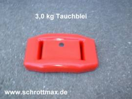 034 Tauchblei 3,0 kg beschichtet - Bild vergrößern