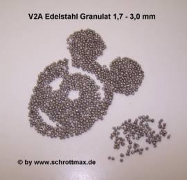 512 V2A Granulat ø 1,7 - 3,0 mm - Bild vergrößern
