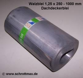 n25 Bleiblech 1,25 x 250 - 1000 mm natur - Bild vergrößern
