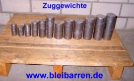 001 Zuggewicht / Uhrengewicht für Wanduhr 0,75 kg - Bild vergrößern