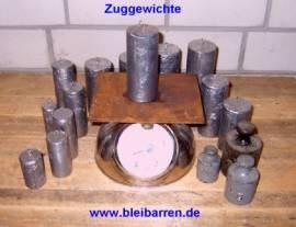 004 Zuggewichte / Uhrengewichte für Wanduhr 1,50 kg - Bild vergrößern
