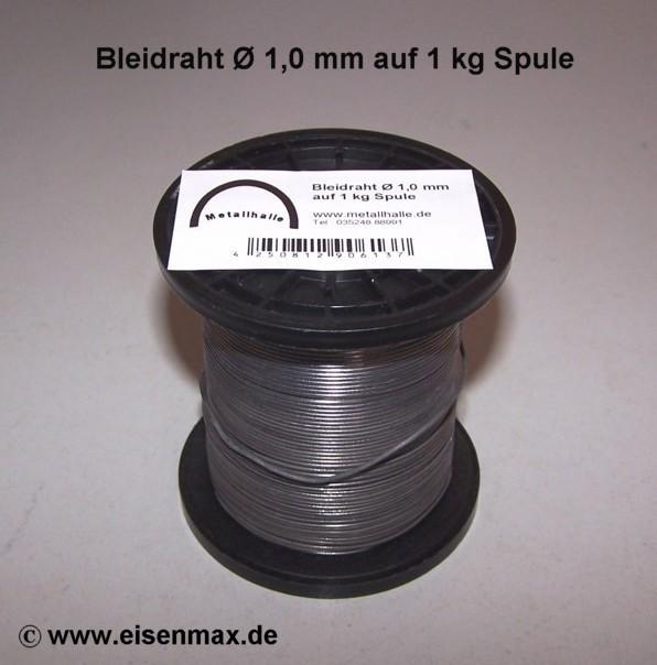 Neu Bleidraht ø 1,0 mm auf 1 kg Spule günstig im Shop Schrottmax kaufen.